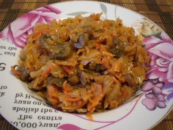 Блюда с грибами и капустой рецепты