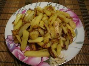 Картофель на горчичном масле
