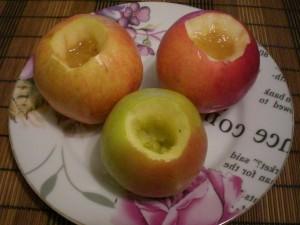 Подготовка яблок для запекания