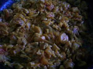 Рисово-грибной фарш для помидоров