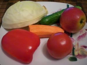 овощи на салат из капусты