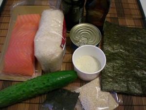 ингредиенты для приготовления рол