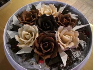 шоколадный торт с розами