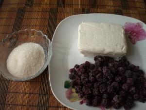 творог, ежевика, сахар для десерта