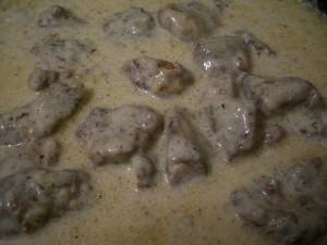 мясная подлива со сливками