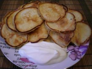 оладьи с яблоками, как готовить