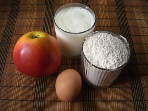 продукты на оладьи с яблоками