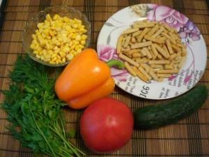 продукты для салатика с сухариками