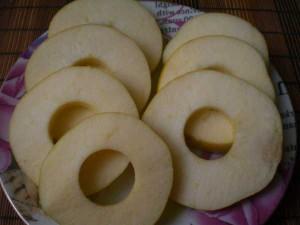 яблоки кружочками