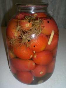 закрываем помидоры, простой рецепт