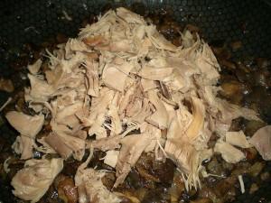 добавить курицу