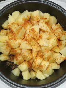 Картофель в мультиварке + специи